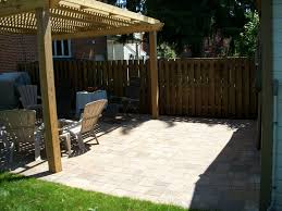 Small Backyard Deck Patio Ideas Bringing Natural Texture With Wood Fence Design Designoursign
