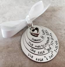 personalized christmas ornament our first christmas she said yes