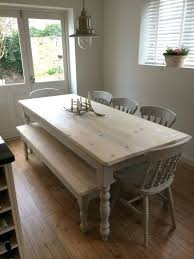 dining table farm dining table with bench farmhouse dining table