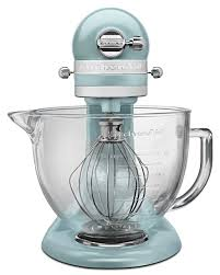 Kitchen Aid Colors by Kitchenaid Mixer Artisan 5 Quart Glass Bowl Mixer Azure Blue