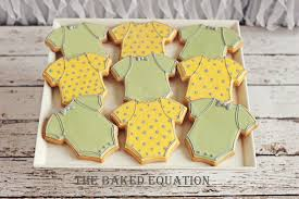 yellow baby shower ideas baby shower cookies baby shower cookies the baked equation