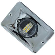 flush mount led lights 12v 12v stainless steel flush mount led rectangular cockpit light