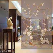 chambre douce toile peinture tulle partition rideau translucide salon suspendus