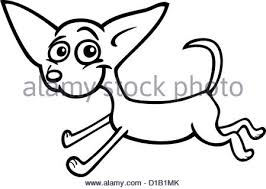 running little dog cartoon for coloring stock photo royalty free