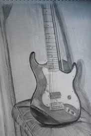 guitar pencil sketch 3d pencil sketch guitar wallpapers drawing