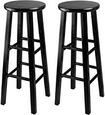 amazon com winsome wood 29 inch saddle seat bar stool black