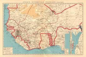 africa map senegal west africa afrique occidentale fran aise louis