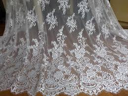 tissus robe de mari e robe de mariée ivoire dentelle tissu tissu fleuri de