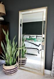 Large Living Room Mirror by Designsbylaila Showcases Our Stunning Omni Leaner Mirror In Her