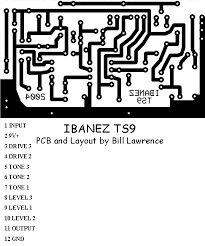 ibanez ts9 screamer pcb fx layouts pinterest guitars