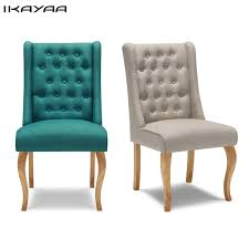 Antique Accent Chair Ikayaa Us Uk Fr Stock Antique Tufted Dining Chair Linen Fabric