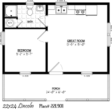Log Cabin Floor Plan by 22 U0027 X 24 U0027 Including 6 U0027 X 24 U0027 Porch Cabin Pinterest Porch