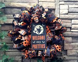 Halloween Picks For Wreaths by Halloween Decoration Halloween Wreaths Witch Wreath