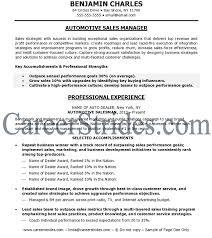 car resume sales sample