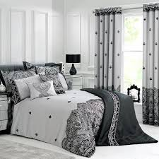 Dunelm Mill Duvet Covers Deco Flock Grey Bed Linen Collection Dunelm