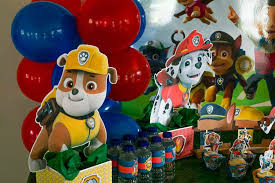 diy paw patrol party decoration centerpieces free printables