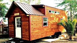 rustic cabin theme tiny house with pine wood interior small home