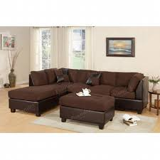 3 sectional sofa with chaise poundex sectional sectional sofa microfiber sectional living