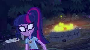 the fire pit image twilight sparkle looking toward the fire pit eg4 png my