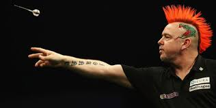 peter wright hair who does the darts star s hair how many times