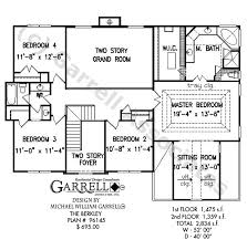 master on house plans berkley house plan house plans by garrell associates inc