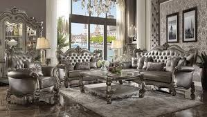 tufted living room furniture versailles platinum tufted 3 piece living room sofa set world of decor