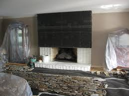 stone fireplace painted brick transformed to thin stone youtube