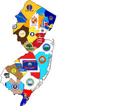 New Jersey State Flag Colors A County Flag Map Of New Jersey Newjersey