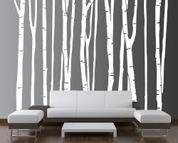 wall art designs best picks birch trees wall art for awesome