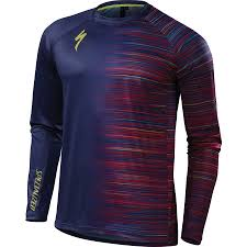 enlarged image demo specialized demo pro long sleeve jersey deep indigo speed blur