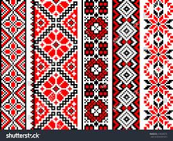 ukrainian ornaments set stock vector 275628275