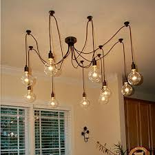Chandeliers Lighting Fixtures 6 Lights Loft Style Vintage Retro Ceiling Lamps Fixtures