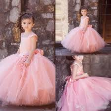 cheap tulle cheap flower girl dresses 2017 pink tulle flower girl dresses