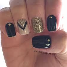 Nail Art Nail Polish Designs Best 20 Black Gold Nails Ideas On Pinterest Gold Sparkle Nails