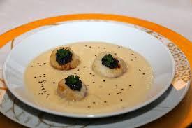 navet cuisine recette velouté de navet boule d or au foie gras et noix de st