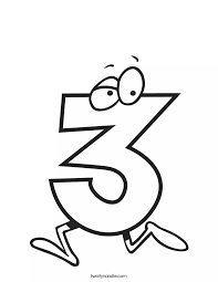 Number 3 Coloring Pages 9 Funnycrafts Number 3 Coloring Page