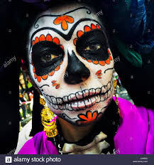 halloween in mexico city a young representing a mexican cultural icon called la