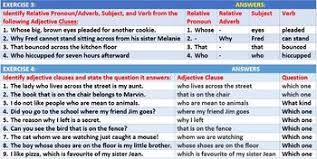 adjective clause worksheets with answers by john dsouza tpt