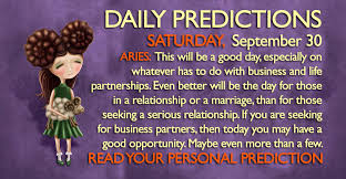 Seeking For Serious Relationship Daily Predictions For Saturday 30 September 2017 Magical