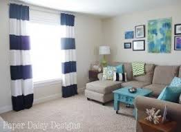 Nautical Striped Curtains Wide Stripe Curtains Foter