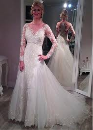 lace mermaid wedding dresses sheer sleeves lace mermaid wedding dresses removable skirt