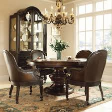 furniture home exquisite comfortable dining room with leather