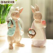 Rabbit Home Decor Online Buy Wholesale Porcelain Rabbit Figurines From China