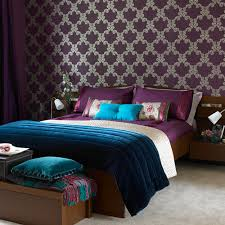 black and purple bedroom wallpaper house design ideas