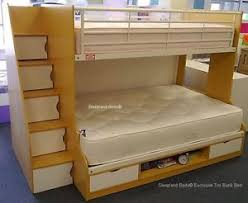 Beech  White Trio  Sleeper New Ft Ft Double Bunk Beds - Double bunk beds