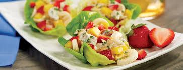 Salad Main Dish - fruity chicken salad lettuce wraps entree main dish recipes