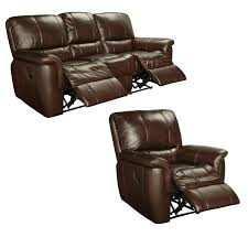 ethan chestnut brown italian leather reclining sofa and recliner chair free today com 15444907