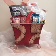 Pastry Gift Baskets Metalic Red Gold Designer Gift Basket Lebouquet Blanc