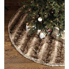 brown christmas tree skirt ballard designs faux fur tree skirt brown featuring polyvore home