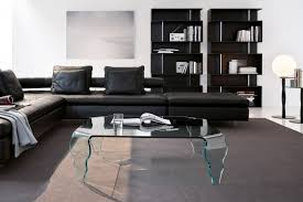 cozy living room design ideas offer perfect l shape black leather